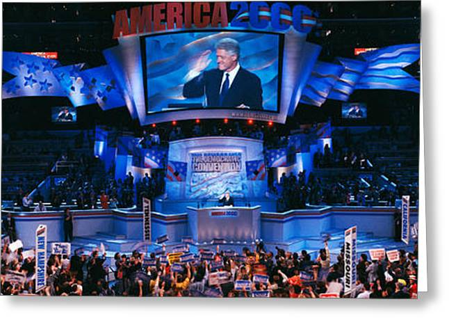 Democratic Convention At Staples Greeting Card by Panoramic Images