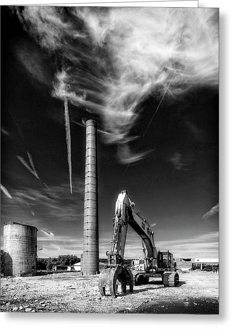 Greeting Card featuring the photograph Demolition Sky by Alan Raasch
