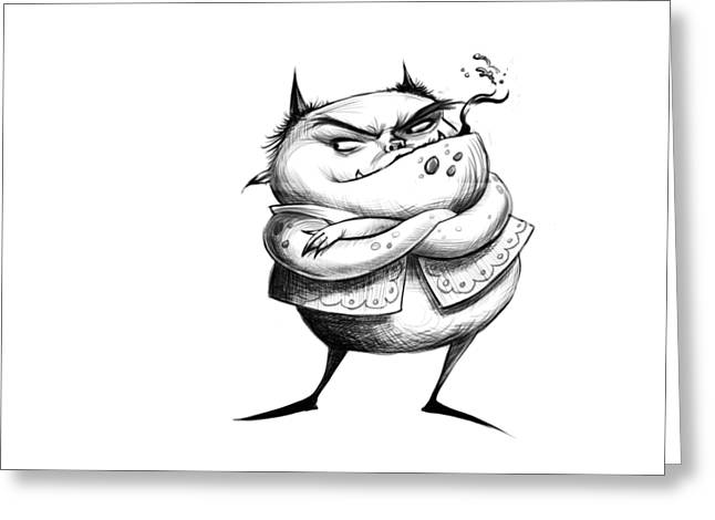 Demon Drawing Greeting Card by Andy Catling