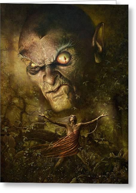 Demonic Evocation Greeting Card