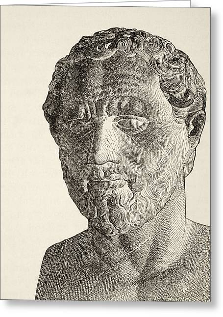 Demosthenes, 384 Greeting Card by Vintage Design Pics