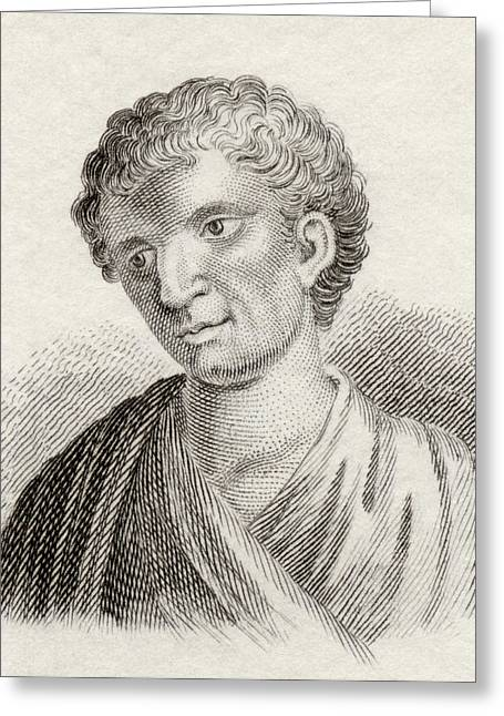 Demosthenes, 384 To 322 Bc. Greek Greeting Card by Vintage Design Pics