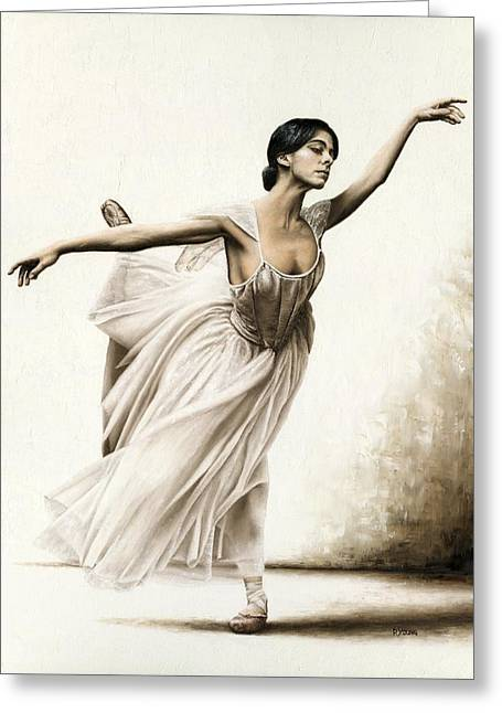 Demure Ballerina Greeting Card