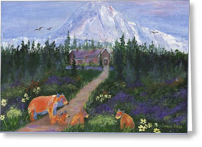 Greeting Card featuring the painting Denali by Jamie Frier