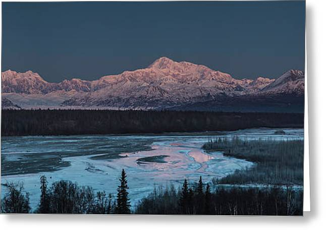 Denali Morning Blue Greeting Card