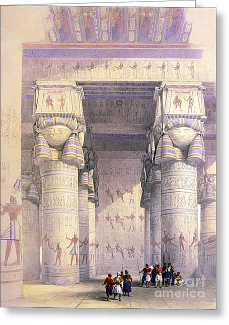 Dendera Temple Complex, 1930s Greeting Card by Science Source