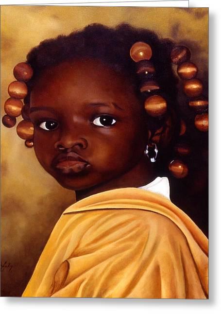 Denise-ghana Greeting Card by Daniela Easter