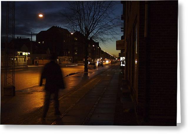 Denmark, Copenhagen, Man Walking Greeting Card by Keenpress