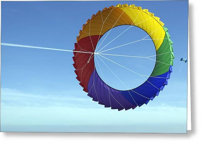 Denmark, Romo, Colorful Kite Flying Greeting Card