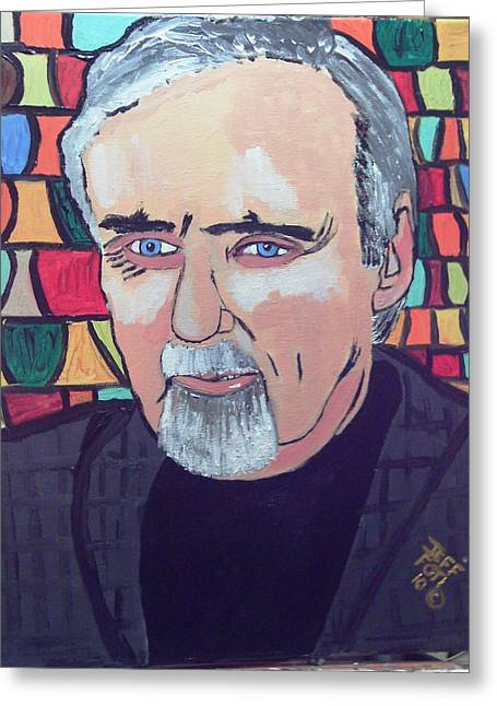 Dennis Hopper Greeting Card by Jeffrey Foti