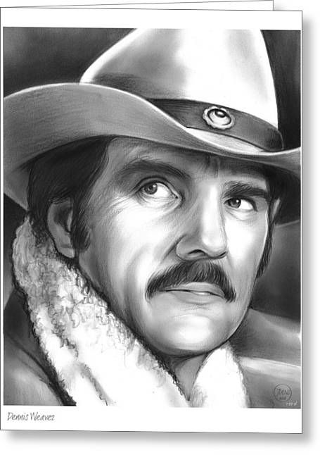 Dennis Weaver Greeting Card by Greg Joens