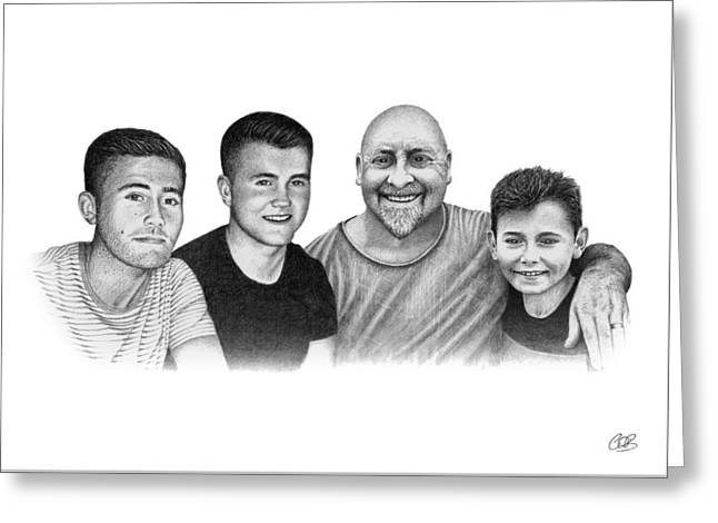 Denny And The Boys Greeting Card