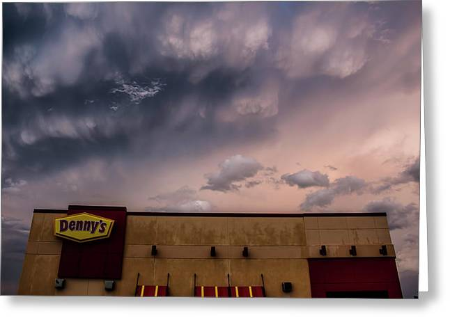Denny's At Sunset Greeting Card