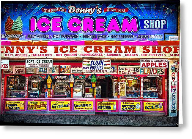 Dennys Ice Cream Shop Greeting Card by Chris Lord