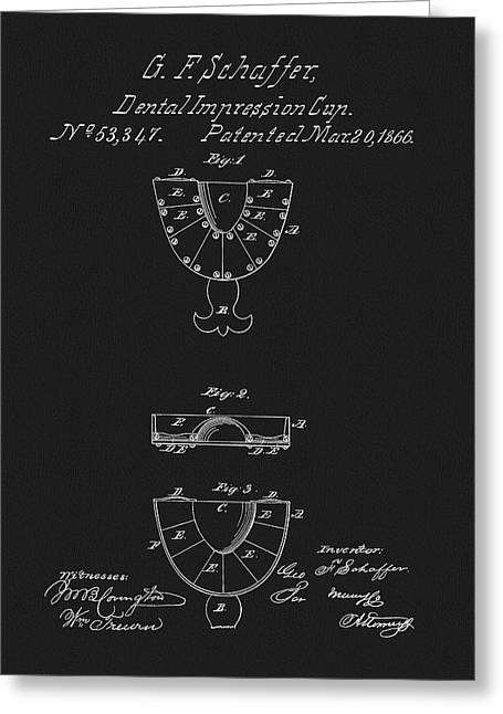 Dental Mold Patent Greeting Card by Dan Sproul