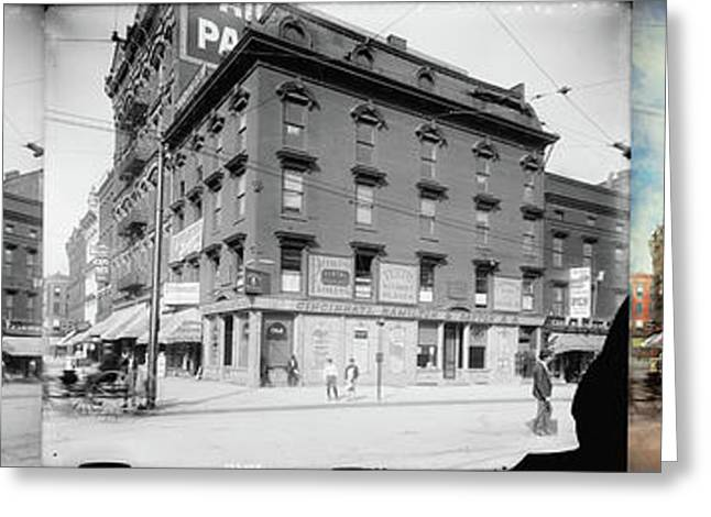 Greeting Card featuring the photograph Dentist - Peerless Painless Dental Parlors 1910 - Side By Side by Mike Savad