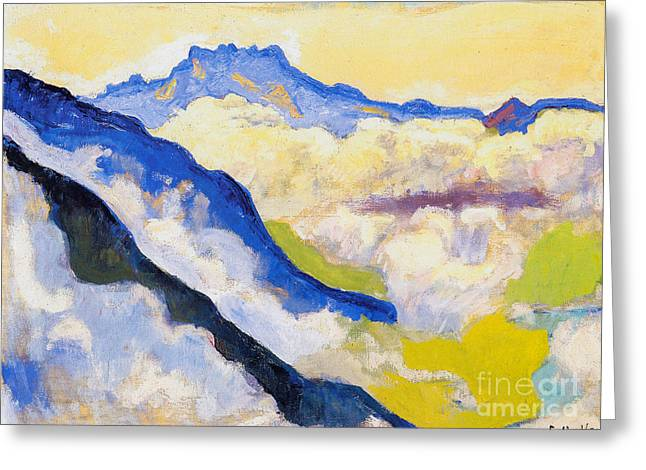 Dents Du Midi In Clouds Greeting Card