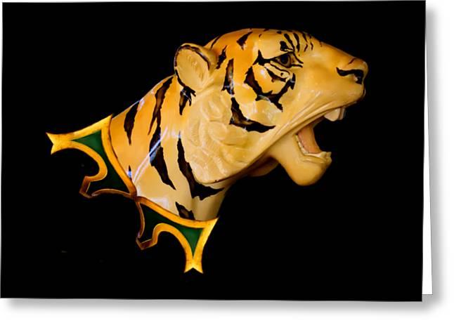Dentzel Carousel Tiger Greeting Card by Carol Deltoro