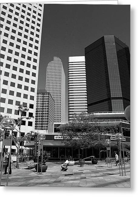 Denver Architecture Bw Greeting Card by Frank Romeo