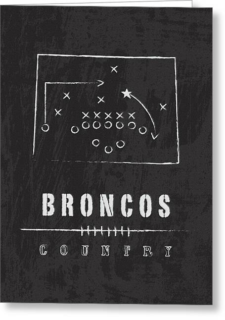 Denver Broncos Art - Nfl Football Wall Print Greeting Card by Damon Gray