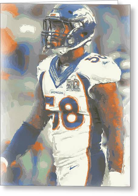 Denver Broncos Von Miller 4 Greeting Card