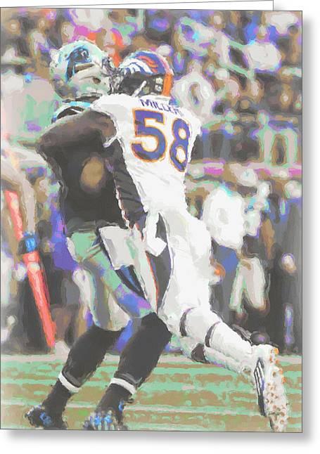 Denver Broncos Von Miller Greeting Card