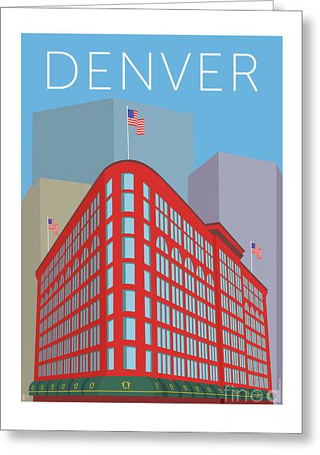 Denver Brown Palace/blue Greeting Card