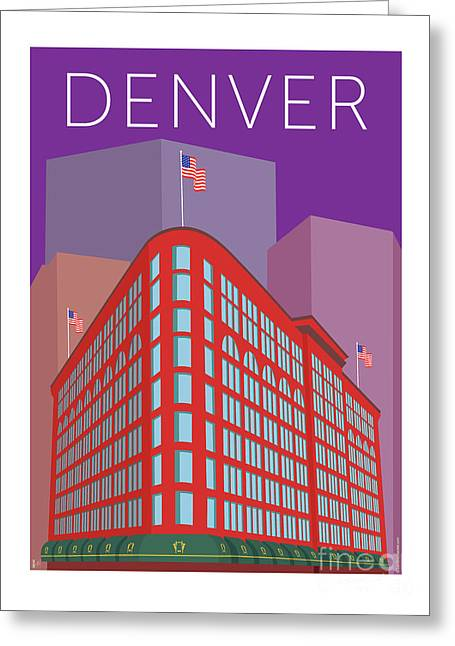 Denver Brown Palace/purple Greeting Card