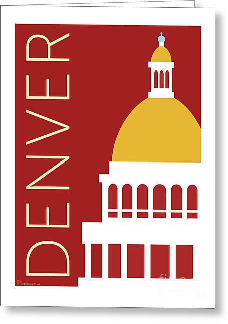 Denver Capitol/maroon Greeting Card