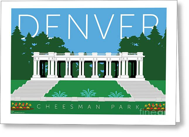 Greeting Card featuring the digital art Denver Cheesman Park by Sam Brennan