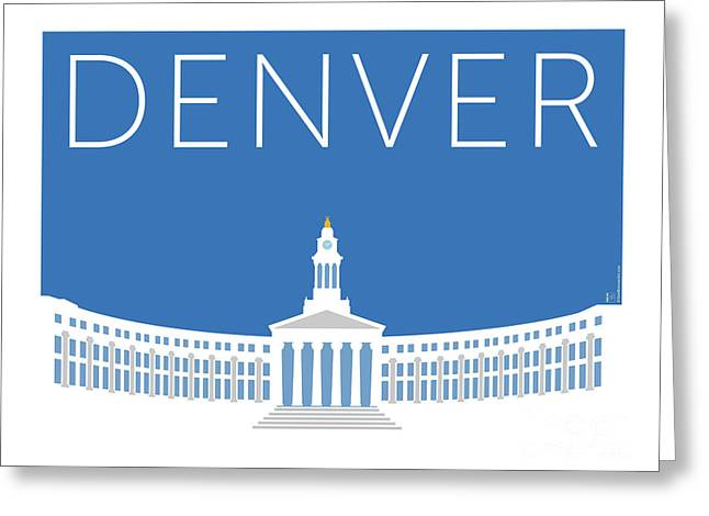 Denver City And County Bldg/blue Greeting Card