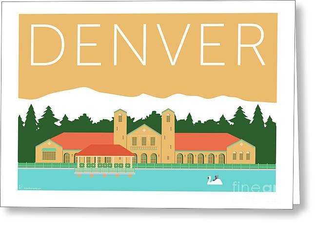 Greeting Card featuring the digital art Denver City Park/adobe by Sam Brennan