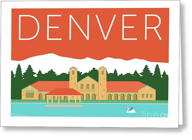 Denver City Park/coral Greeting Card