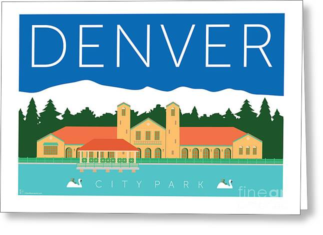 Greeting Card featuring the digital art Denver City Park by Sam Brennan