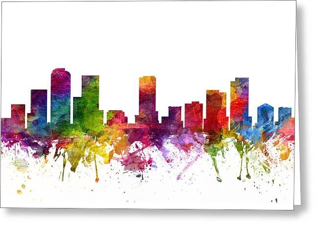Denver Cityscape 06 Greeting Card