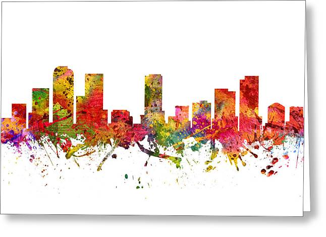 Denver Cityscape 08 Greeting Card