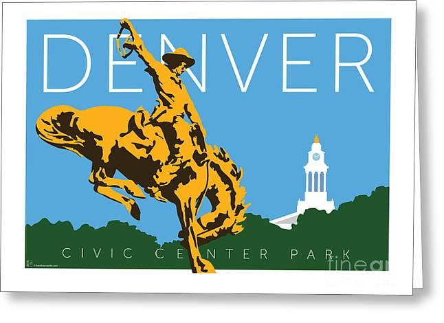 Denver Civic Center Park Greeting Card