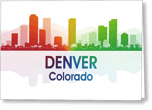 Denver Co 1 Squared Greeting Card