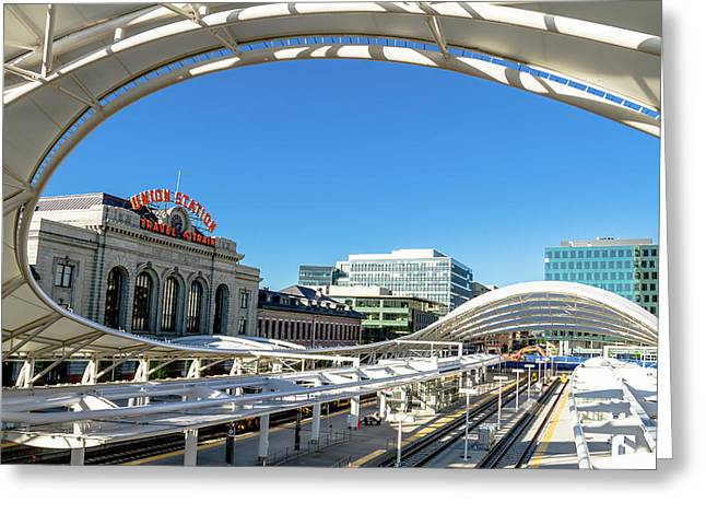 Denver Co Union Station Greeting Card