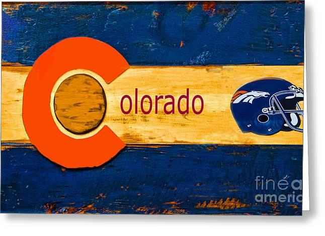 Denver Colorado Broncos 1 Greeting Card