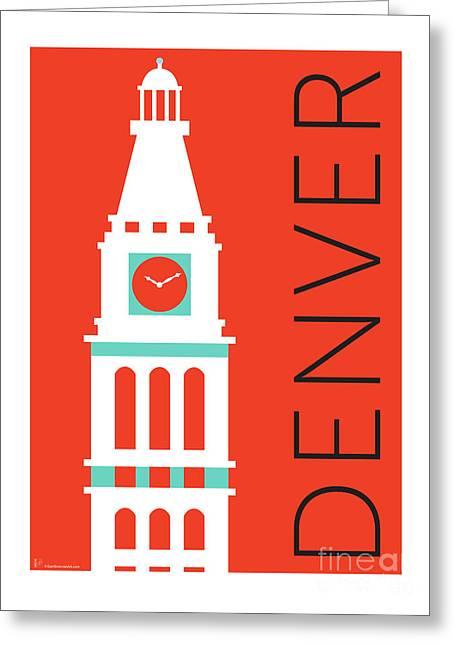 Denver D And F Tower/orange Greeting Card