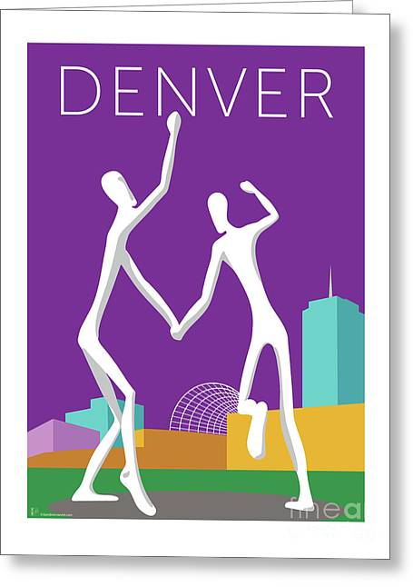 Denver Dancers/purple Greeting Card