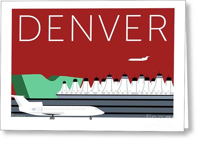 Denver Dia/maroon Greeting Card