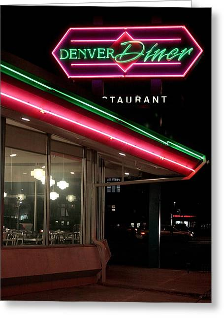 Denver Diner Greeting Card by Jeffery Ball