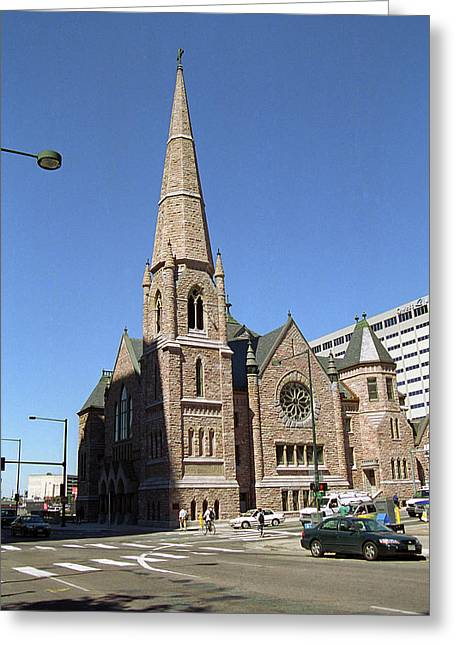 Greeting Card featuring the photograph Denver Downtown Church by Frank Romeo