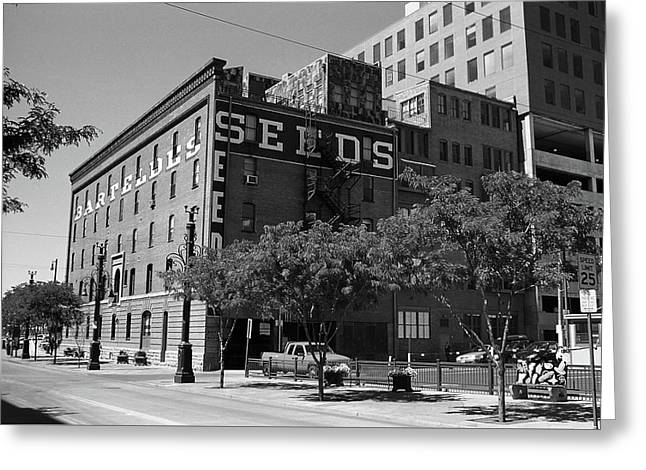 Denver Downtown Warehouse Bw Greeting Card by Frank Romeo