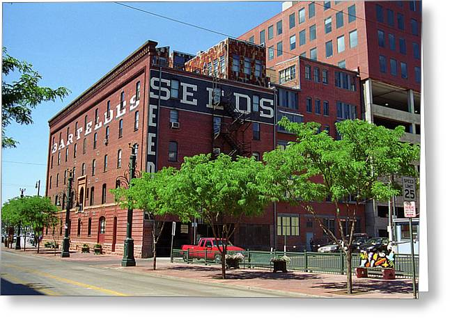Greeting Card featuring the photograph Denver Downtown Warehouse by Frank Romeo