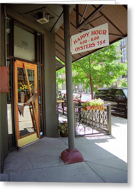 Greeting Card featuring the photograph Denver Happy Hour by Frank Romeo
