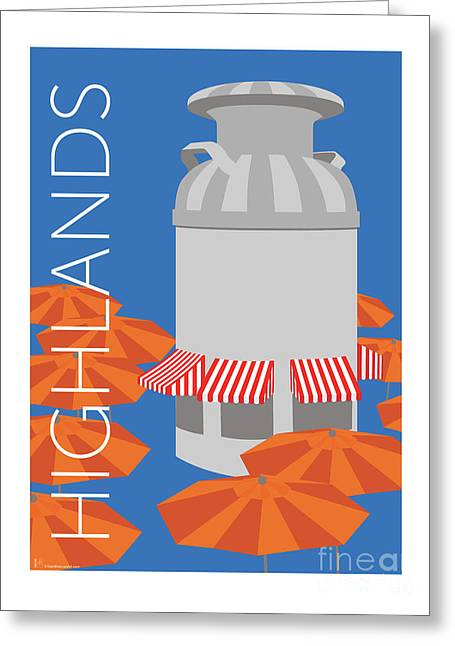 Greeting Card featuring the digital art Denver Highlands/blue by Sam Brennan