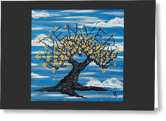 Greeting Card featuring the drawing Denver Love Tree by Aaron Bombalicki